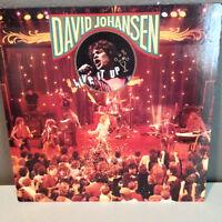 "DAVID JOHANSEN - Live It Up - 12"" Vinyl Record LP - EX"