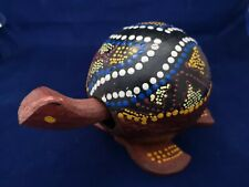 Handpainted Wooden Nodding Head Turtle