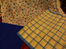 les tissus bleus assortis anciens ans 60-70 ,futurs rideaux ??
