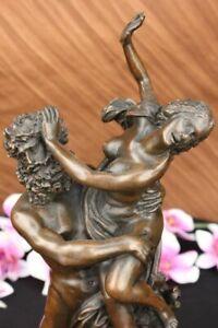 Handcrafted bronze sculpture SALE C & Persephone Hades, Of Classical Figurine