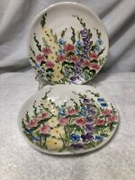 """TableTops Unlimited English Garden 8 3/4"""" Salad Plates By Don Swanson"""