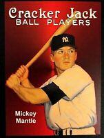 Mickey Mantle Vintage Style Cracker Jack Card  ACEO Rp New York Yankees MLB HOF