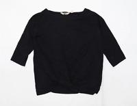 Arabella & Addison Womens Size 12 Modal Blend Black Long Sleeve T-Shirt (Regular