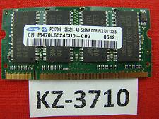 512 MB DDR RAM PC-2700S  333 MHz  'Samsung M470L6524CU0-CB3' KZ-3710