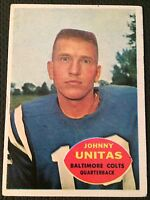 1960 Topps Johnny Unitas #1 Baltimore Colts