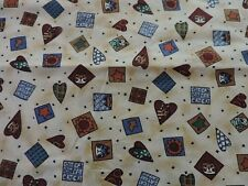 """BEST FRIENDS"" BY HOFFMAN.  1 YARD, 44 IN. WIDE.  CATS, HEARTS."