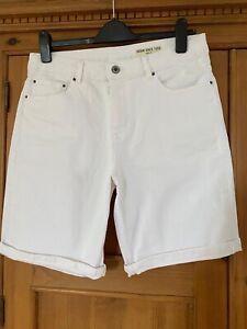 M & S Ladies White Denim Shorts - Size 14 - Hardly Worn