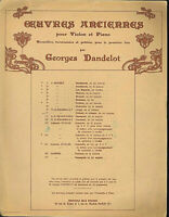 """N. CLERAMBAULT : """" Prelude et Allegro """" für Violine und Klavier"""