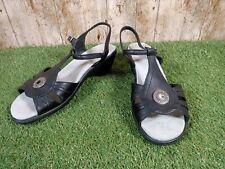 Hotter Comfort Concept Sandals Womens Black Leather Size 8 UK