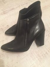 Paul Green Black Leather Boots - Size UK 3.5 EU 36.5