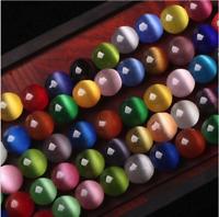 4mm 6mm 8mm 10mm 12mm Cat Eye Round Stone Beads DIY Jewelry Making Gemstone