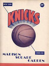 1965-66 New York Knicks vs Los Angeles Lakers Game Program
