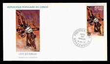 Dr Who 1977 Congo Fdc Bondjos Fight Cachet d58411