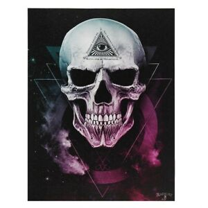 THE VOID ALCHEMY SMALL GOTHIC CANVAS PICTURE ART PRINT SKULLS ALL SEEING EYE