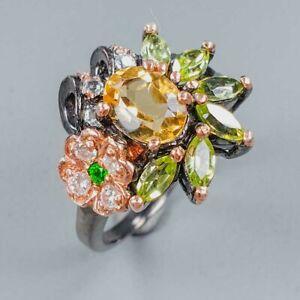 Handmade Design Citrine Ring Silver 925 Sterling  Size 7.75 /R155174