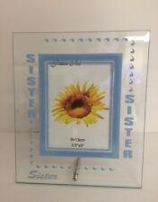 SORELLA cornice in vetro per foto - FAMIGLIA - Ragazze - REGALO - - Blu