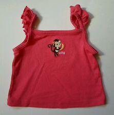 Gymboree Baby Girls Aloha Sunshine Size 6-12 Months Monkey Shirt Tank Top