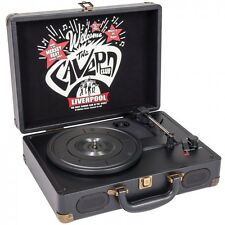 THE CAVERN CLUB PORTABLE RECORD PLAYER RPCV1 With Built In Speaker and Aux