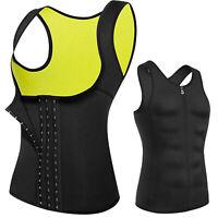Hot Sweat Sauna Body Shaper Women Men Slimming Zipper Vest Thermal Waist Trainer