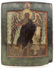 Late 17th CENTURY ANTIQUE RUSSIAN ICON OF ST.JOHN THE BAPTIST ANGEL OF DESERT