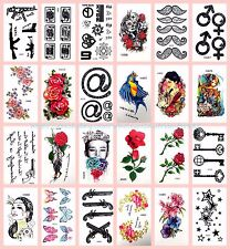 US Seller-24 sheets playing cards stars rose temporary tattoo wholesale tattos