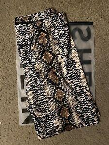 Snake Print High Waist Biker Shorts  Size: XS