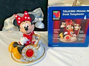 Disney Talking Minnie Mouse Desk Telephone