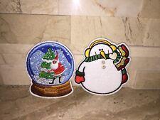 Christmas Ugly Sweater Set Of Two Pins Santa Snow Globe & Snowman