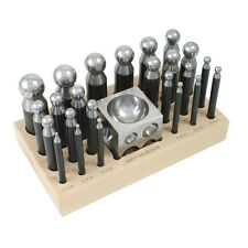 Dapping Set - 24 Punches and Block for Jewelry Making - 25-617