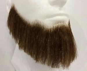 Medium Brown Human Hair Full Character Professional Costume Beard 2024
