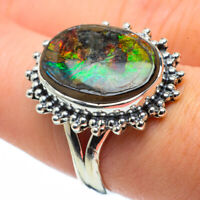Ammolite 925 Sterling Silver Ring Size 7.75 Ana Co Jewelry R29225F