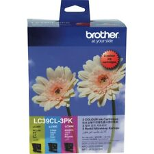 1x Brother Genuine LC-39CL3PK 3 Colors Pack C/M/Y Inks For DCPJ125 J315W MFCJ220