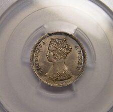 HONG KONG 10 CENTS 1866 SILVER PCGS MS62 TEN PEARLS HIGH GRADE RARE COIN