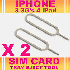 2 x iphone 4 plateau de carte sim éjecter outil pin 3G 3GS iPad *