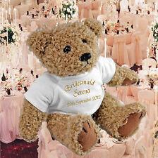 personalisiert Hochzeit- Bär & Geschenktüte - Brautjungfer, Pagenjunge,