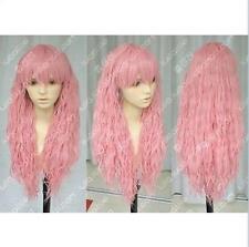 Hot Sell ! New Lolita Style Fashion Long Dark Pink Cosplay Wig Free shipping