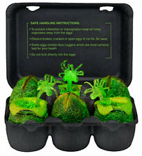 Alien Figures Xenomorph Glow In The Dark 6 Piece Egg Collectible Carton Set NECA