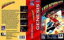 Last Action Hero Sega Genesis NTSC Replacement Box Art Case Insert Reproduction