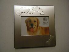 BOW WOW SILVER FRAME 6.5 X 6.5 OVERALL HOLDS 3.5 X 5 PICTURE