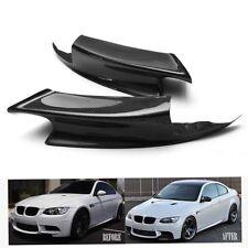 2pc Carbon Fiber Front Bumper Lip Splitters Spoiler For BMW 07-12 E90 E92 E93 M3