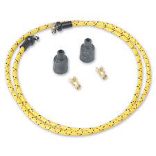 Vintage Rajah Yellow Black Red 7mm Cloth Spark Plug Wire Sets harley sportster