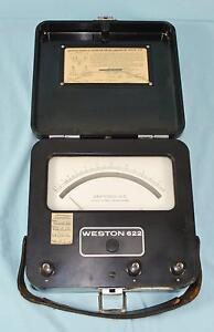 * Vintage Weston Model 622 Thermo Ammeter or Milliammeter Test Meter