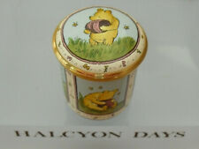 """Halcyon Days Winnie the Pooh """"It All Comes of Liking Honey So Much"""" Enamel Box"""