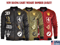 Men's Multi Racing Printed New Light Weight Bomber Jacket