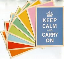 Lot of 8 POST CARDS WITH ENGLAND'S WORLD WAR II SLOGAN OF KEEP CALM AND CARRY ON
