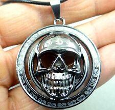Fashion Retro Tibetan silver Charm cute Skull head Pendant & necklace T2