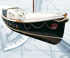 """Model Boat PLAN 1/16 Scale 35"""" R/c liverpool Lifeboat F/S Printed Plans & Articl"""