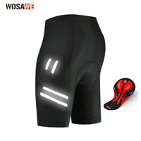 WOSAWE Men's Cycling Shorts Bicycle 3D Padded MTB Bike Half Pants Riding Black
