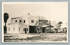 Daytona Beach Moose Lodge Club Rppc Florida Vintage Photo—Rare 1950s