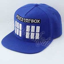 Doctor Who Tardis Public Call Police Box Logo COS Canvas Baseball Cap Hat Loose
